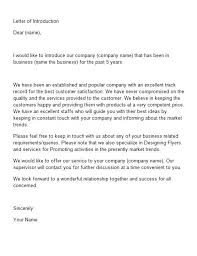 Letter of Introduction Templates  amp  Examples Letter of Introduction Template