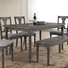 Acme Furniture Dining Room Set Acme Wallace Dining Table In Weathered Blue Washed Ac 71435 For