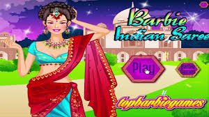 barbie princess games barbie indian saree dress up game video