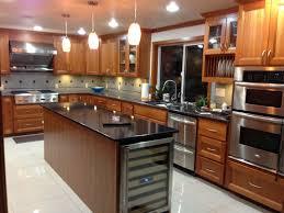 craftsman kitchen with wine refrigerator u0026 kitchen island in