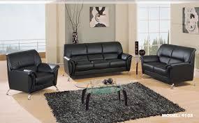 Black Leather Couch Living Room Ideas Black Leather Sofa Black Faux Leather Malaysian Sofa Set 3