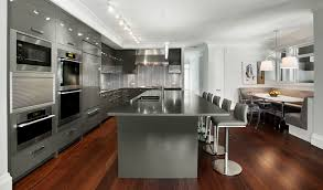 Dark Grey Cabinets Kitchen Modern Dark Gray Kitchen Cabinets White Marble Countertop Double