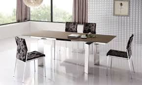 stylish extendable dining table with metal legs esf95dt modern dining tables dinette furniture