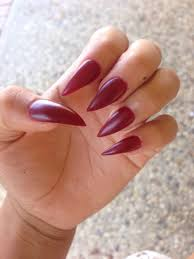 matte red wine stiletto nails i am in love with these thanks to