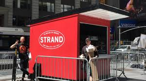 the strand opening times square pop up kiosk am new york