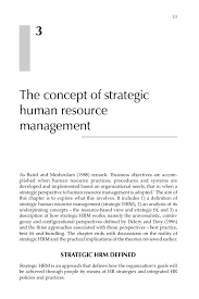 strategic human resource management a guide to action