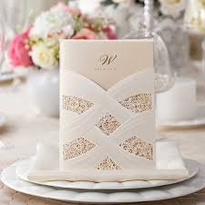 Discount Wedding Invitations With Free Response Cards Amazon Com Wishmade 50 Count Wedding Invitations Cards Kits With
