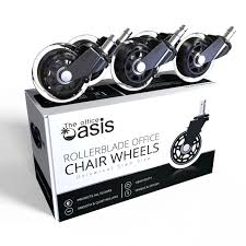 How To Stop Swivel Chair From Turning Amazon Com Office Chair Caster Wheels Set Of 5 Heavy Duty