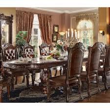 Acme Furniture Dining Room Set 62000 Vendome Dining Table With Double Pedestal In Cherry By Acme