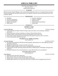 Resume For Nanny Job by Impactful Professional Food U0026 Restaurant Resume Examples