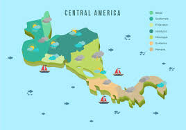 Centro America Map by Central America Map With Weather Vector Illustration Download
