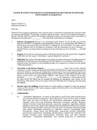 Legal Letter Of Intent letter of intent for software development royalty payment