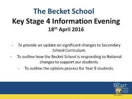 Welcome to Stanborough School Key Stage   Information Evening