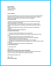 Career Objective For Bank Starting Successful Career From A Great Bank Manager Resume