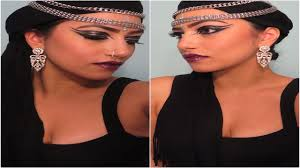 Indian Halloween Makeup Halloween Make Up Indian Arab Gypsy Princess Youtube