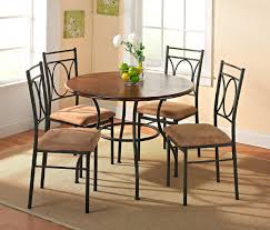 Retro Dining Room Set 7 Piece Kitchen Nook Small Table And 6 Dining Room Chairs Small