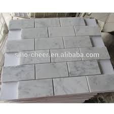 Carrara Marble Non Beveled BrickSubway Tile Backsplash Buy - Carrara tile backsplash