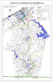 Virginia On Map by Proposed I 73