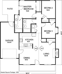 cottage style house plan 3 beds 2 00 baths 1050 sq ft plan 56 104