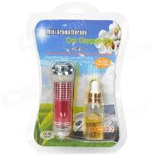 jo 622 mini oxygen bar car air freshener w 8ml perfume red 12v