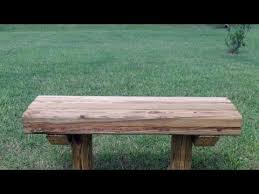 Build Wood Garden Bench by How To Build A Wooden Bench For 12 75 Youtube