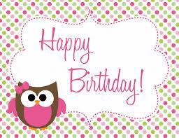 Reunion Cards Invitation Owl Birthday Freebie