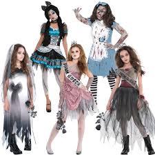 Girls Zombie Halloween Costumes Teen Zombie Bride Graveyard Corpse Costume Girls Halloween Fancy