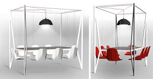 Dinner Table Dynamic Dinner Table Features Fun Swing Set Style Seating