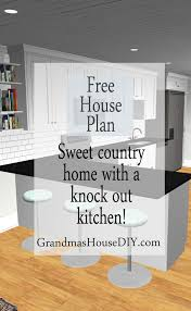 free house plan 1 200 square foot country home grandmas house diy