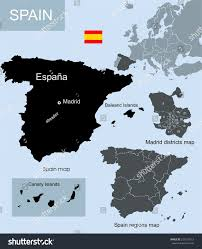 Madrid Spain Map by Spain Map Regions Map Madrid Districts Stock Illustration