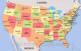 United States Map Major Cities by Maps Of The United States Usa State Capitals And Major Cities Map