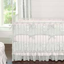 silver french angel baby bedding by carousel designs silver