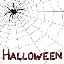 halloween vector art big dark horrifying spider on the web hand drawing halloween