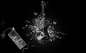 Black Wallpaper Guitar