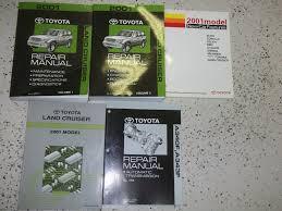 2001 toyota land cruiser service shop repair manual set oem 01 w