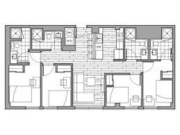 Penthouse Floor Plans 4 Bed 4 Bath Apartment In Columbia Mo Rise On 9th