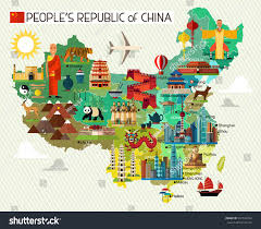Fuzhou China Map by Map China Travel Iconschina Travel Map Stock Vector 537164782