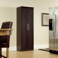 kitchen elegant tall dark brown kitchen storage furniture with elegant tall dark brown kitchen storage furniture with silver handle refrigerator and doormat