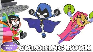 teen titans go coloring book pages compilation raven starfire