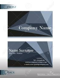 Calling Business Cards A Front And Back Design Of A Calling Card On A White Background