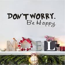 online get cheap happy face sticker aliexpress com alibaba group ishowtidenda creative don not worry be happy vinyl wall decal home decor wall sticker household living