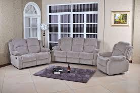 Grey Sofa And Loveseat Set Fenton Grey Velvet Reclining Sofa U0026 Loveseat Set With Recliner