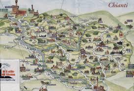 Tuscany Map Easy Brief Chianti Travel Guide Chianti Tourist Information