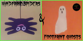handprint spiders u0026 footprint ghosts sunbeams and heartstrings