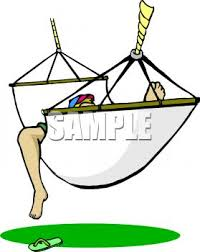 image of a person lazying in a hammock, boorowed from clipartguide.com