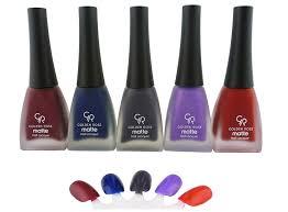 amazon com golden rose matte nail polish set of 5 beauty