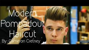 mens haircut modern pompadour with skin fade haircut and style