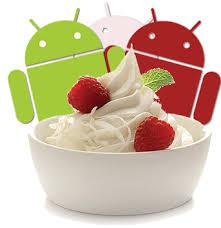 Andriod 2.2 as Froyo[Frozen Yoghurt]