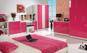 Decorating With White Bedroom Furniture Design Ideas For Modern White Girls Bedroom With Pink Color Scheme