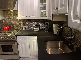 how to install ceiling tiles as a backsplash hgtv